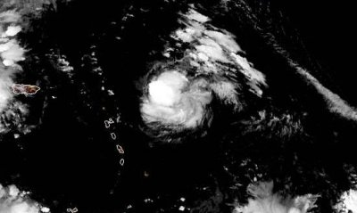 Jerry strengthens into 4th hurricane of season