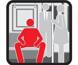 New York transit poster takes aim at 'manspreading'