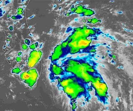New tropical depression forms off the coast of Florida