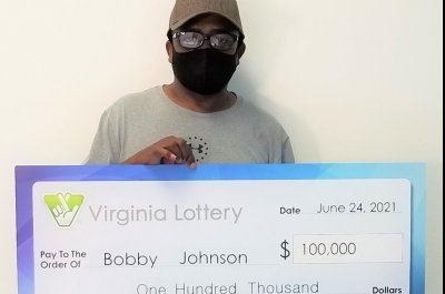 Virginia man wins a second $100,000 lottery jackpot with same numbers