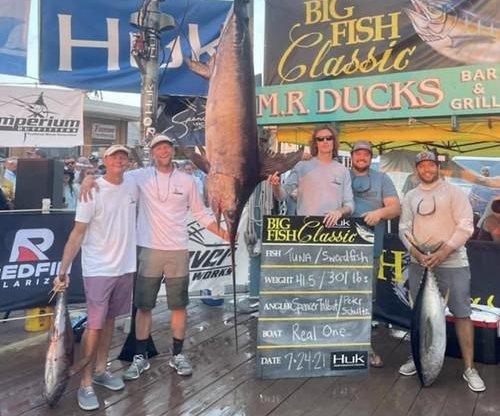 Maryland man reels in 301-pound swordfish after 8-hour struggle