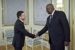 Austin visits Ukraine, voices U.S. support against Russian aggression