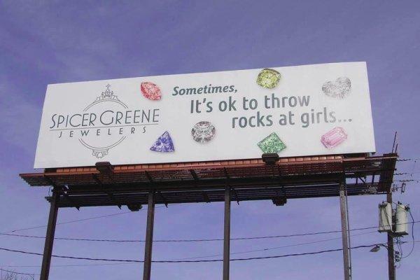 Look North Carolina Jewelry Store S Billboard Sometimes