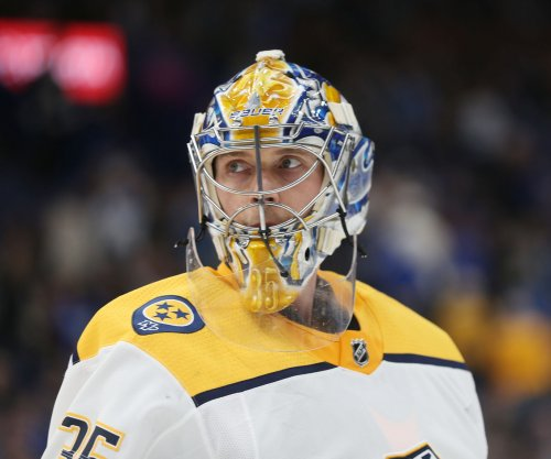 Pekka Rinne stops 34 shots in Nashville Predators' 2-0 win over St. Louis Blues