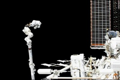 Astronauts conduct first spacewalk to fix cosmic particle detector on ISS