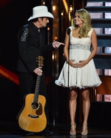 Carrie Underwood is having a boy; secret is spilled on CMAs