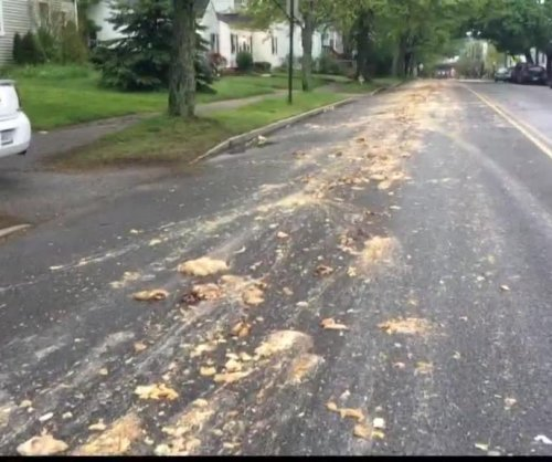 Truck spills chicken parts on Maine road, residents wake to foul stench