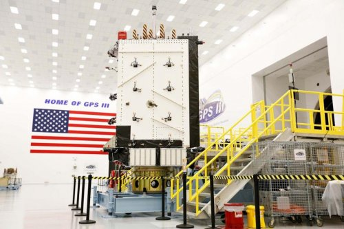 Lockheed Martin prepares GPS III satellite for SpaceX launch