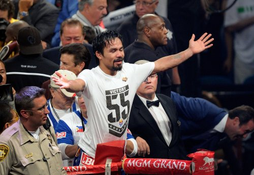 Manny Pacquiao fights to get rich so he can give to the poor?