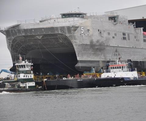 Navy christening joint high speed vessel