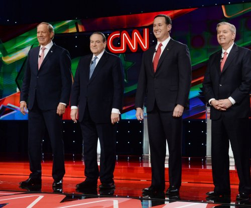 Trump's shadow hangs over under card GOP debate