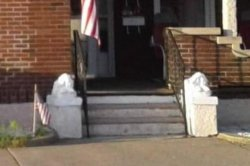 Two 100-pound lion statues stolen from Pennsylvania porch