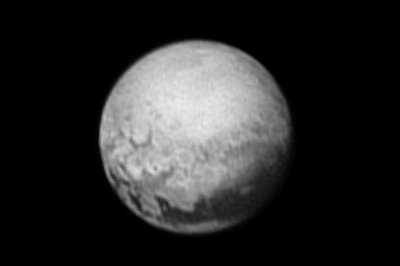 Photograph from NASA probe shows new details of Pluto surface