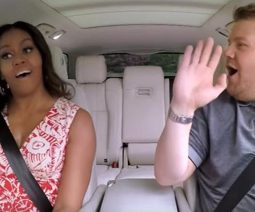 James Corden will do Carpool Karaoke with first lady Michelle Obama Wednesday