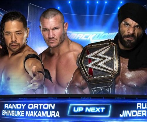 WWE Smackdown: Randy Orton RKOs Shinsuke Nakamura