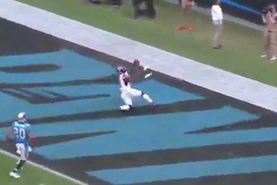 Julio Jones: Atlanta Falcons wide receiver drops touchdown