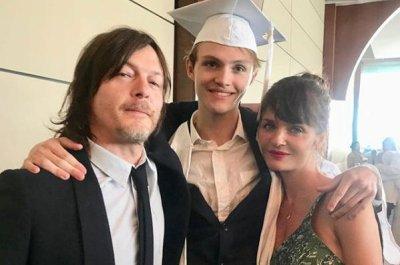 Norman Reedus, Helena Christensen reunite at son's high school graduation