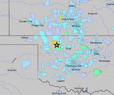 Oklahoma hit by third strongest earthquake on record