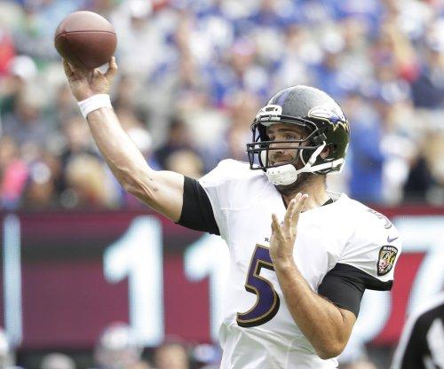Injury update: Baltimore Ravens QB Joe Flacco misses practice with shoulder injury