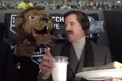Ron Burgundy kisses burrito on NHL kiss cam, calls game