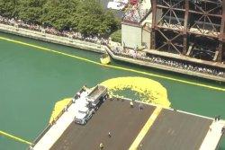 65,000 rubber ducks float the Chicago River for annual festival