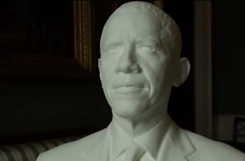 President Obama gets 3-D printed likeness