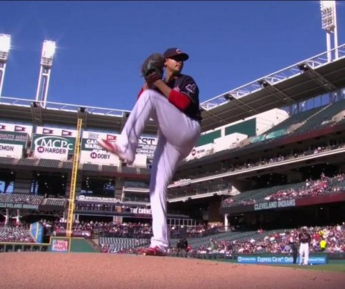 Cleveland Indians' Carlos Carrasco leaves with pectoral muscle tightness