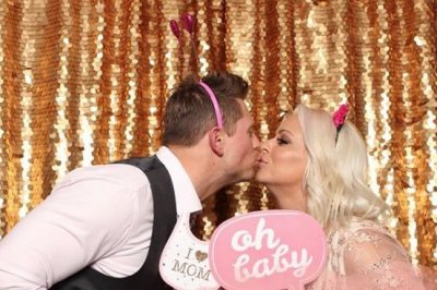 WWE's The Miz and Maryse throw pink-filled baby shower