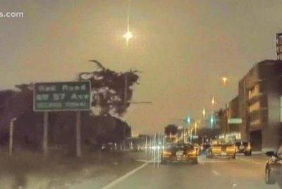 Bright fireball lights up night sky over Florida