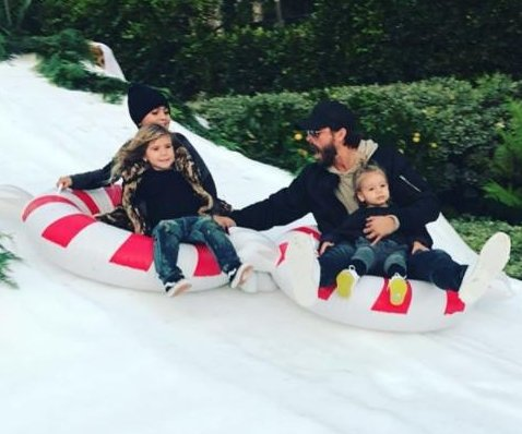 Kourtney Kardashian, Scott Disick enjoy snowy outing with kids