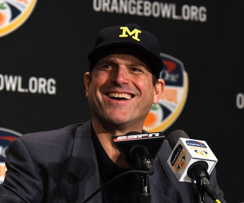 Police investigate threats against Michigan coach Harbaugh
