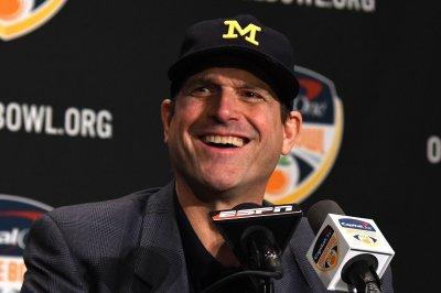 Police investigate threats against Michigan coach Harbaugh