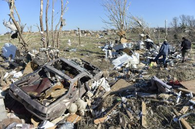 Twin tornadoes in Nebraska leave two dead, small town destroyed