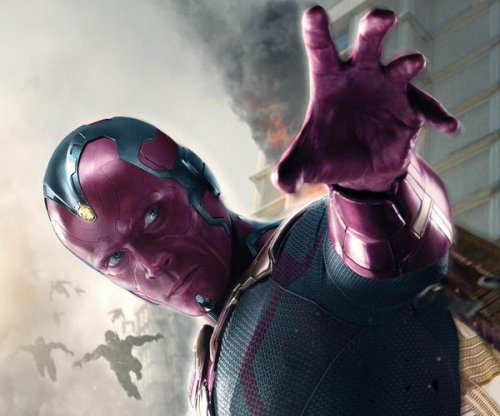 Paul Bettany stars as the Vision in 'Avengers: Age of Ultron' poster