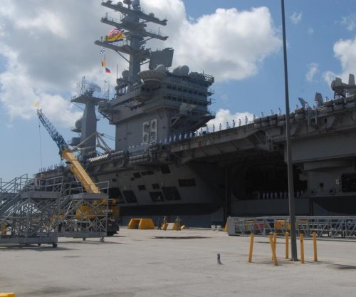 U.S. Navy aircraft carrier Ike begins training and evaluation programs