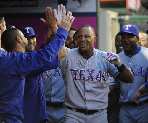 Texas Rangers third baseman Adrian Beltre records 3,000th hit