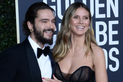 Heidi Klum, fiance Tom Kaulitz get close at Golden Globes