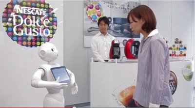 Nestlé Japan putting robot in stores to sell coffee machines