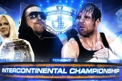 WWE Smackdown Live: The Miz defends the IC title against a disgruntled Dean Ambrose