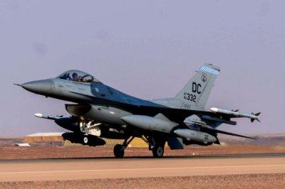F-16s of the D.C. Air National Guard arrive in Saudi Arabia