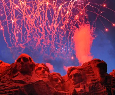 Trump, first lady head to Mount Rushmore for fireworks display