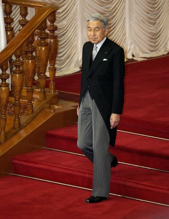 Japan Emperor Akihito celebrates birthday