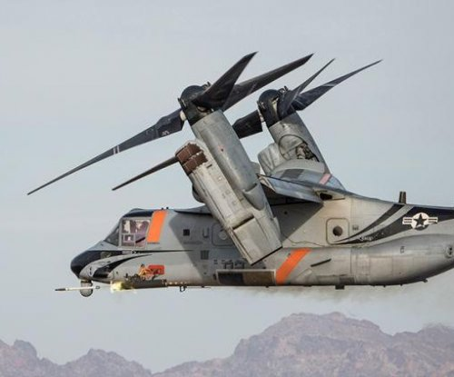 Bell demos V-22 Osprey with forward-firing weapons