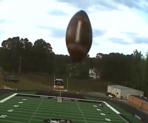 Georgia kicker boots drone out of the sky with football