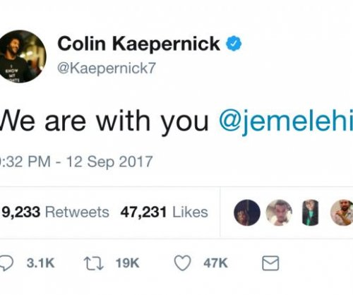 Colin Kaepernick supports Jemele Hill after Donald Trump comments, ESPN apologizes