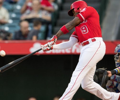 Los Angeles Angels' Justin Upton hits homer into giant paint can, not eligible for $1M prize to charity