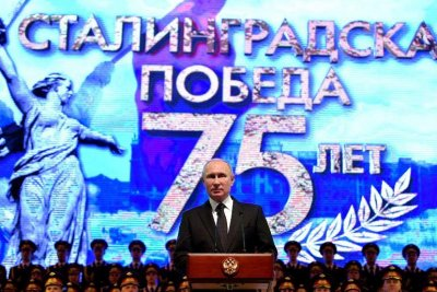 Putin leads ceremonies at 75th anniversary of Stalingrad battle