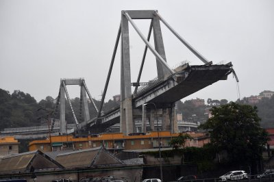 Bridge collapses in northern Italy; at least 35 dead