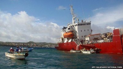 Ecuador declares emergency over cargo ship run aground in Galapagos Islands
