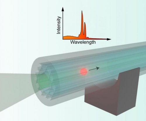 Researchers trap particle-based microlaser inside optical cable, a first